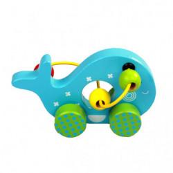 Balena Montessori, din lemn, Multicolor