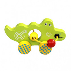 Crocodil Montessori, din lemn, Multicolor