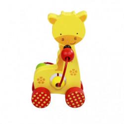 Girafa Montessori, din lemn, Multicolor