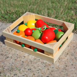Ladita cu fructe din lemn TRANSILVAN, Multicolor