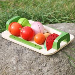 Tocator cu fructe din lemn TRANSILVAN, Multicolor
