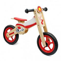 Bicicleta fara pedala din lemn cu inaltime reglabila