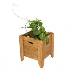 Cutie din lemn pentru flori FLORA Maro