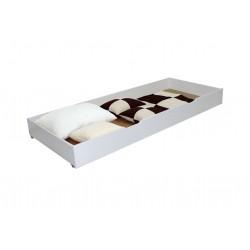 Cutie de depozitare sub pat, 195x80x20 cm, Alb